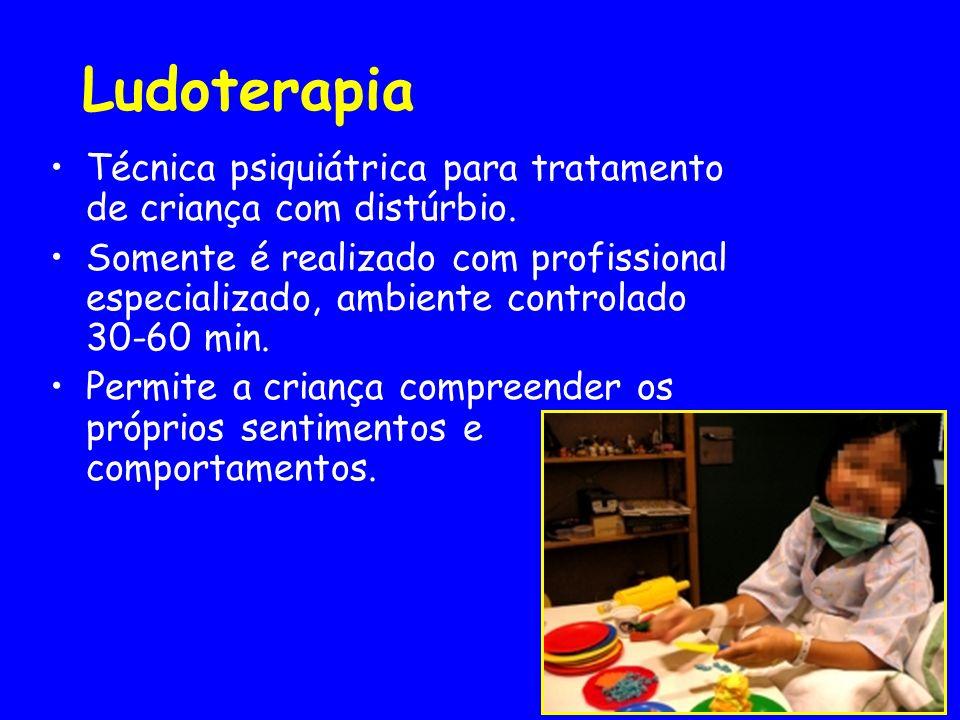 Ludoterapia Técnica psiquiátrica para tratamento de criança com distúrbio. Somente é realizado com profissional especializado, ambiente controlado 30-