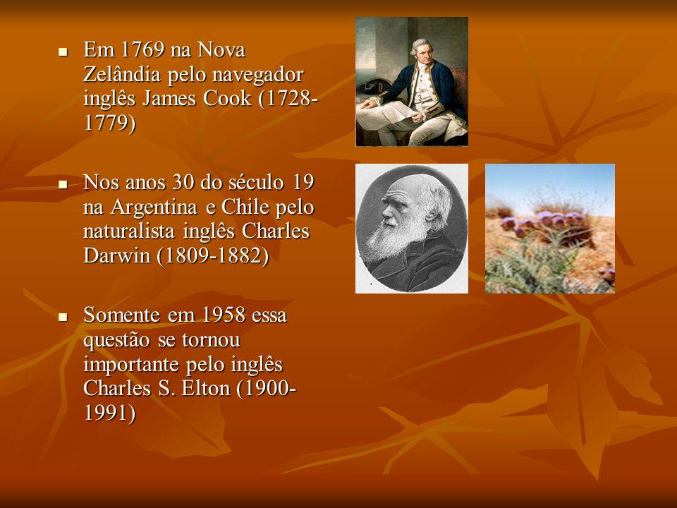 Em 1769 na Nova Zelândia pelo navegador inglês James Cook (1728- 1779) Em 1769 na Nova Zelândia pelo navegador inglês James Cook (1728- 1779) Nos anos