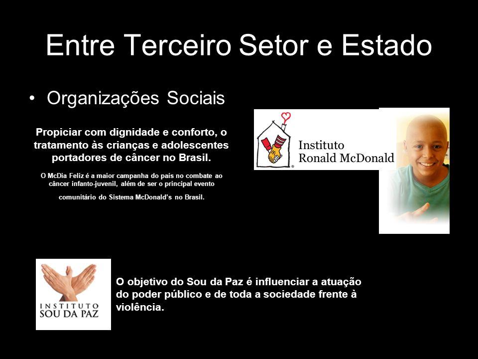 Entre Terceiro Setor e Estado Organizações Sociais Propiciar com dignidade e conforto, o tratamento às crianças e adolescentes portadores de câncer no
