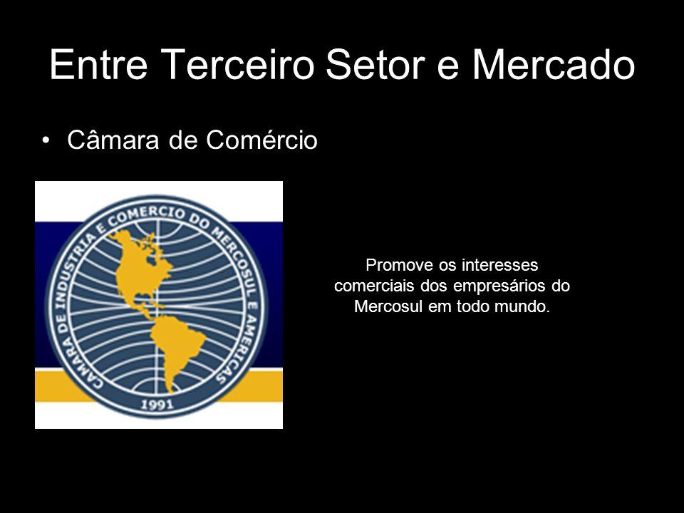 Entre Terceiro Setor e Mercado Câmara de Comércio Promove os interesses comerciais dos empresários do Mercosul em todo mundo.