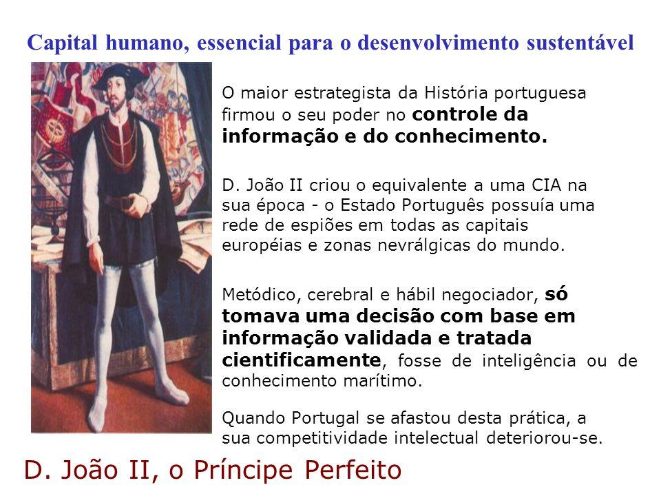Capital humano, essencial para o desenvolvimento sustentável O maior estrategista da História portuguesa firmou o seu poder no controle da informação
