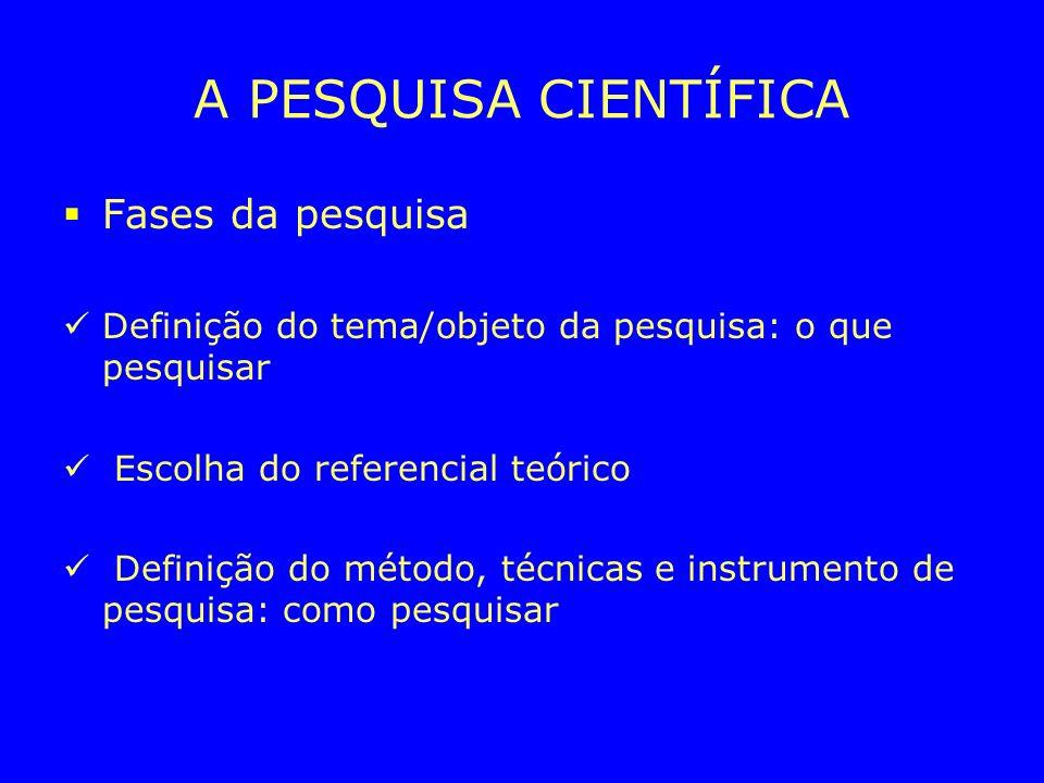 O CONHECIMENTO CIENTÍFICO Século XVI – XIX – Instituição de uma racionalidade científica