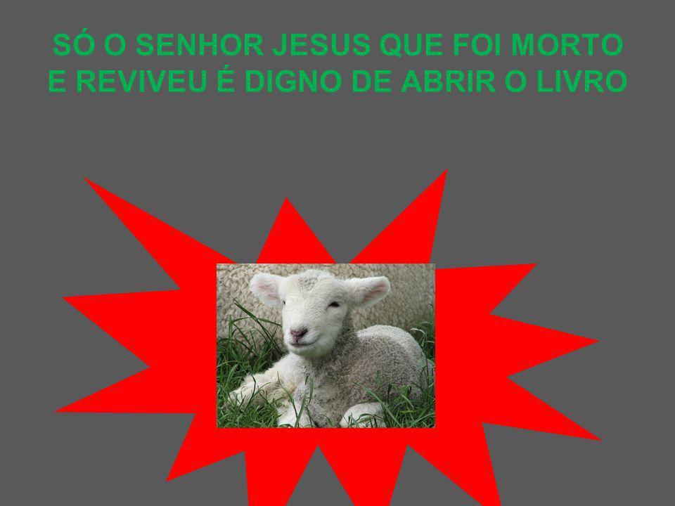 SÓ O SENHOR JESUS QUE FOI MORTO E REVIVEU É DIGNO DE ABRIR O LIVRO