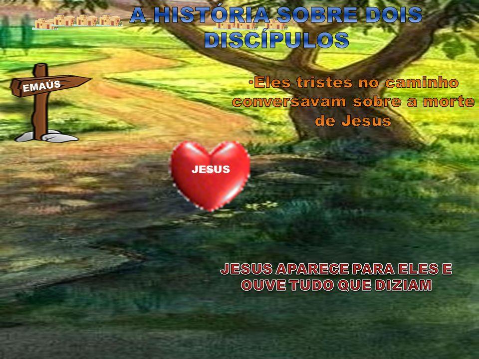 ELES FALARAM COISAS BOAS DE JESUS.E JESUS PERGUNTOU: CLEOFAS DISSE JESUS QUE CONVERSA É ESSA.