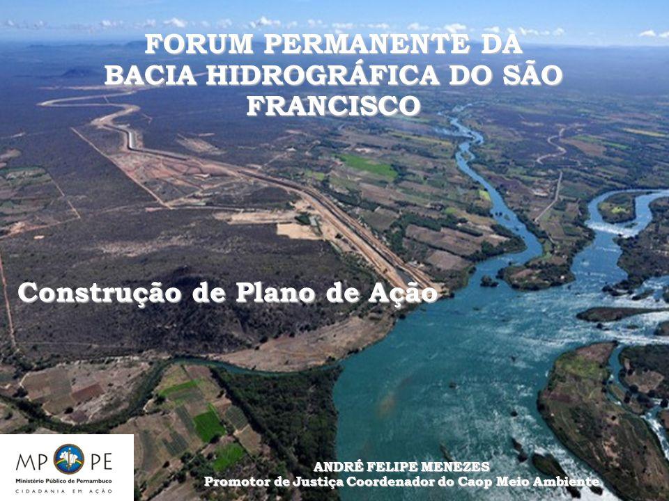 FORUM PERMANENTE DA BACIA HIDROGRÁFICA DO SÃO FRANCISCO Construção de Plano de Ação ANDRÉ FELIPE MENEZES Promotor de Justiça Coordenador do Caop Meio