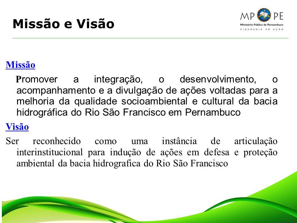 Missão e Visão Missão P romover a integração, o desenvolvimento, o acompanhamento e a divulgação de ações voltadas para a melhoria da qualidade socioa
