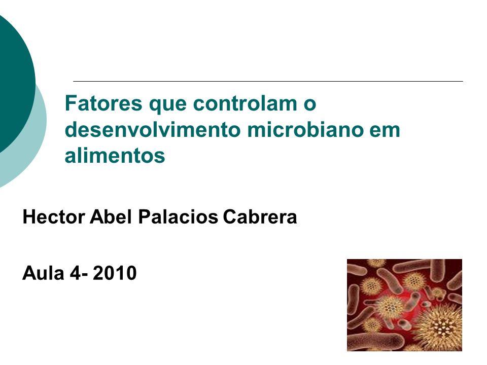 Fatores que controlam o desenvolvimento microbiano em alimentos Hector Abel Palacios Cabrera Aula 4- 2010