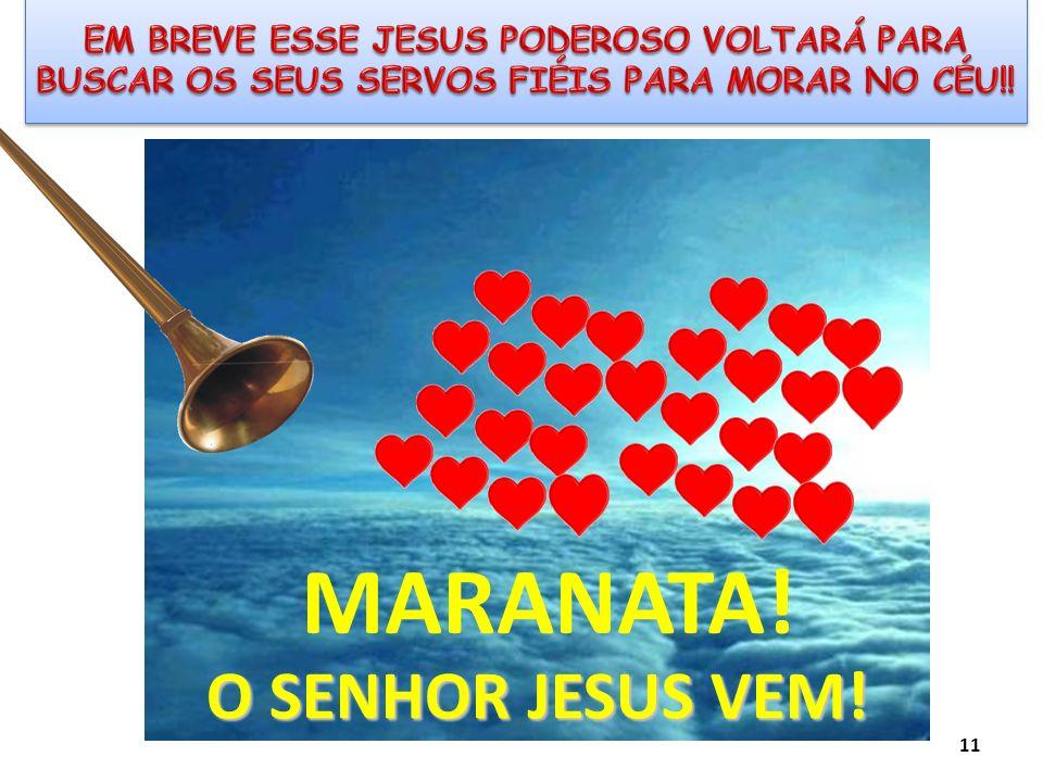 O SENHOR JESUS VEM! MARANATA! 11