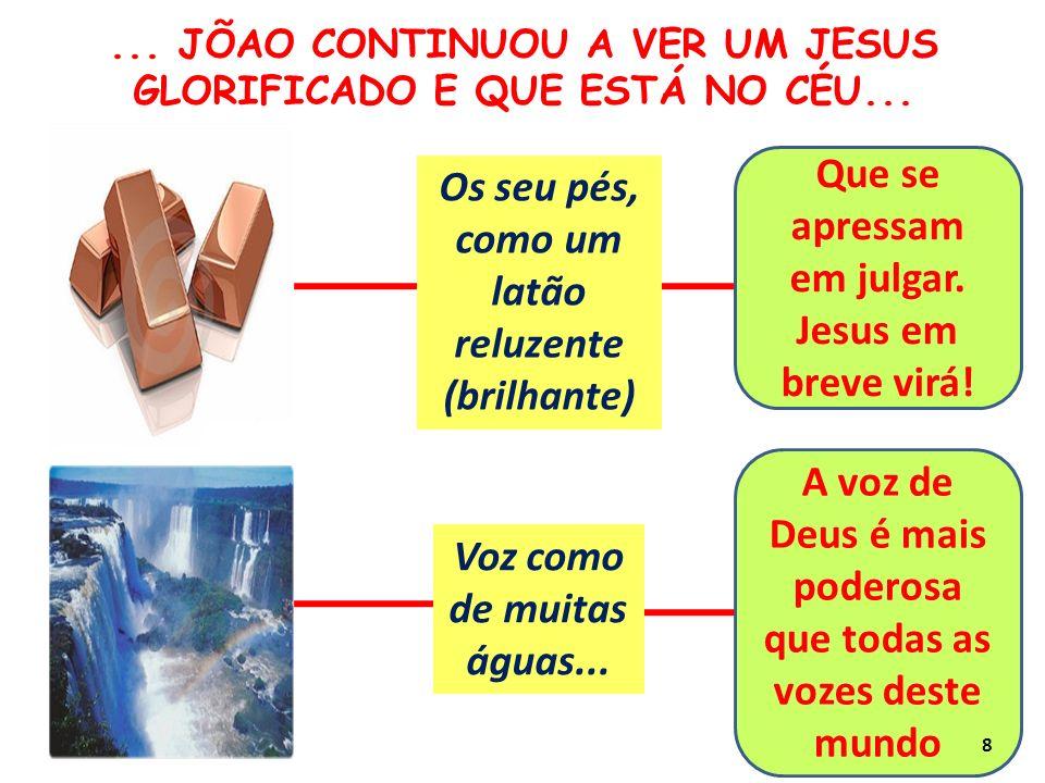 Na sua destra (mão direita) sete estrelas Da sua boca saia uma aguda espada de dois gumes O Espírito Santo de Deus operando na vida da Igreja A Palavra de Deus é poderosa....
