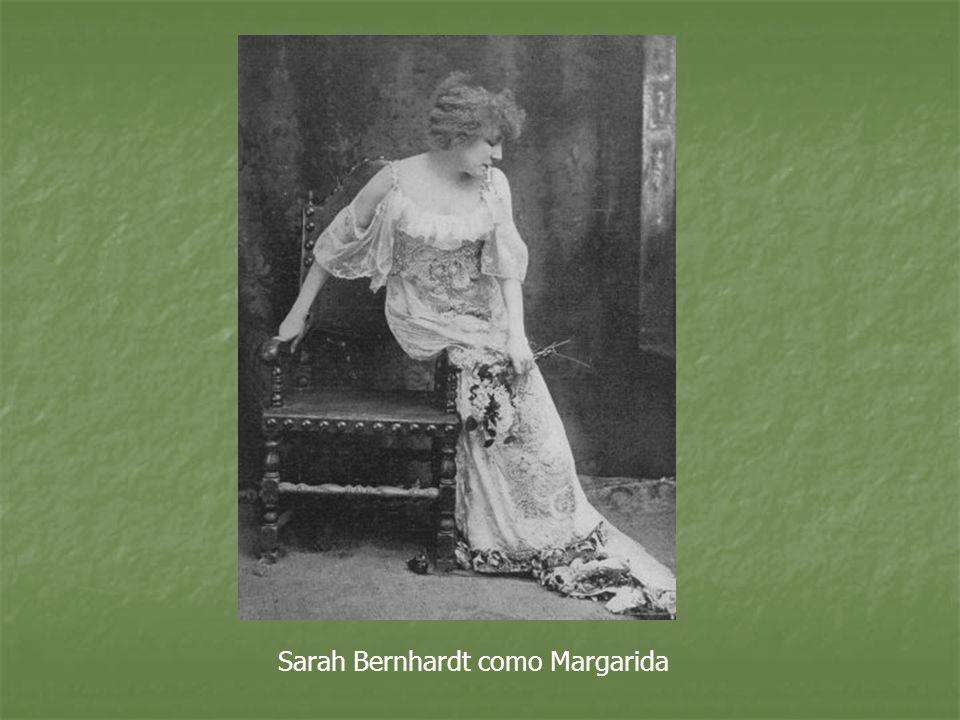 Sarah Bernhardt como Margarida
