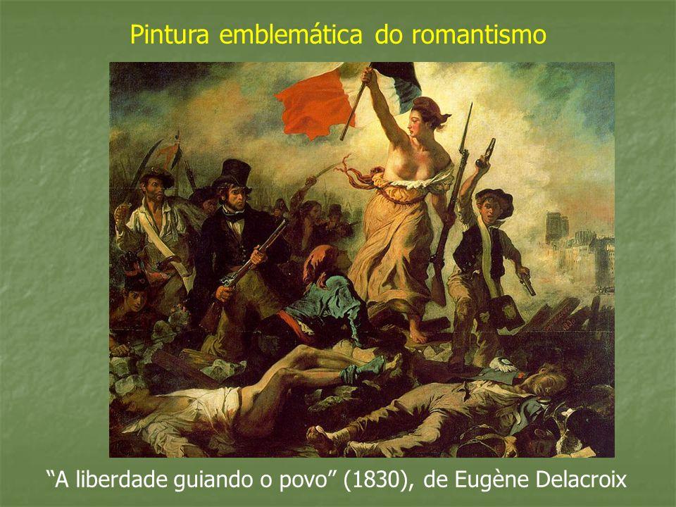 A liberdade guiando o povo (1830), de Eugène Delacroix Pintura emblemática do romantismo