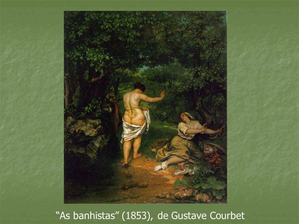 As banhistas (1853), de Gustave Courbet