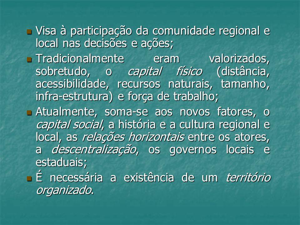 Visa à participação da comunidade regional e local nas decisões e ações; Visa à participação da comunidade regional e local nas decisões e ações; Trad