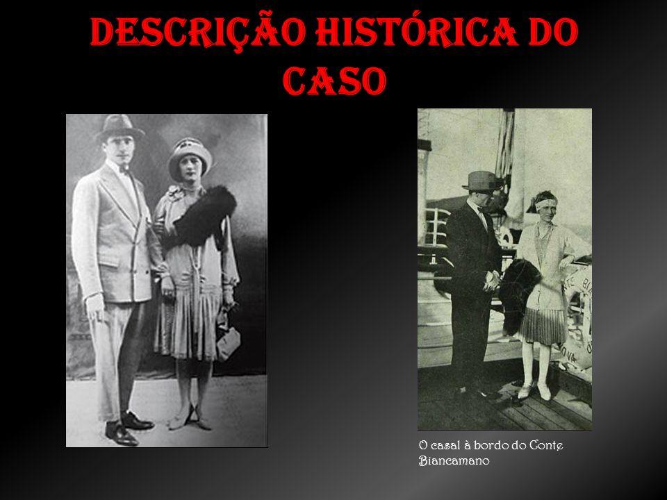 Descrição histórica do caso O casal à bordo do Conte Biancamano