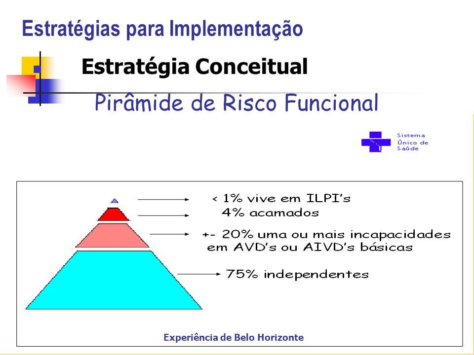 Estratégias para Implementação Estratégia Conceitual Pirâmide de Risco Funcional Experiência de Belo Horizonte