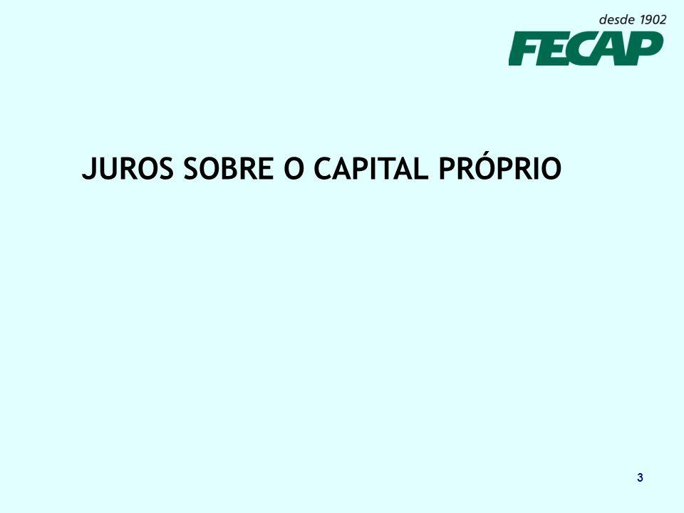 4 Origem dos Juros sobre o capital próprio Lei 9.249/95 revogou a correção monetária do balanço prevista no artigo 185 da Lei 6.404/76 (lei das S.A.)