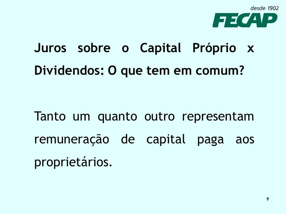 10 Juros sobre Capital próprio e Dividendos: Qual a diferença.
