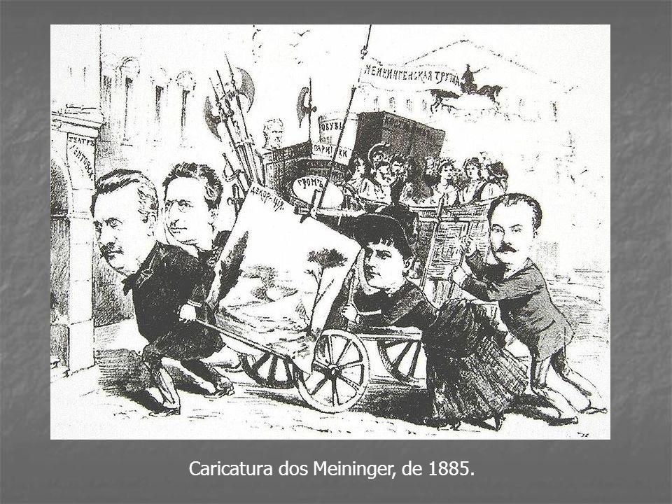 Caricatura dos Meininger, de 1885.