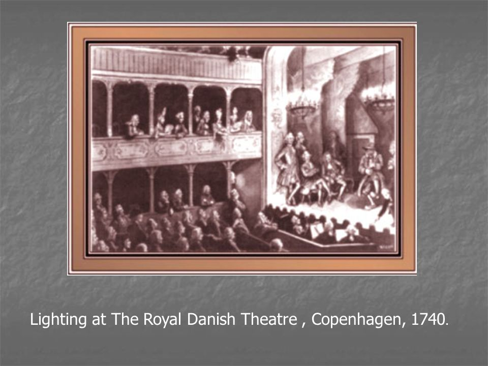 Lighting at The Royal Danish Theatre, Copenhagen, 1740.