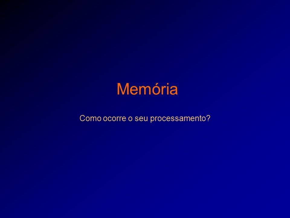 Memória Como ocorre o seu processamento?