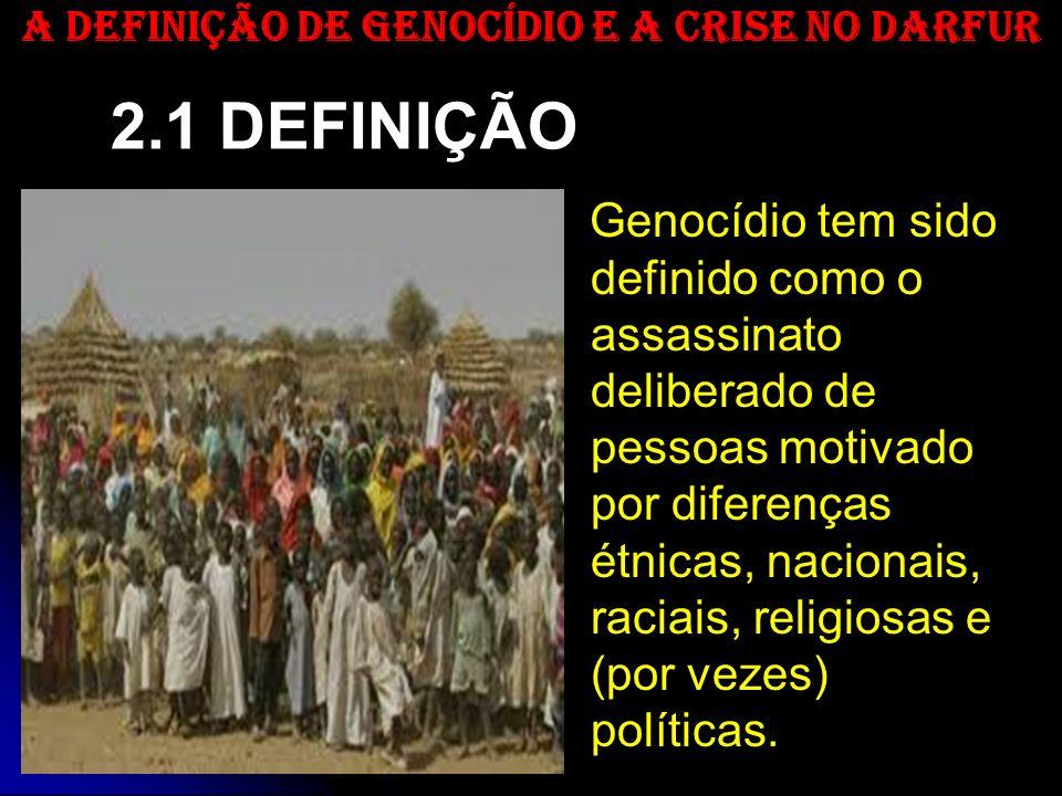 Genocídio tem sido definido como o assassinato deliberado de pessoas motivado por diferenças étnicas, nacionais, raciais, religiosas e (por vezes) pol