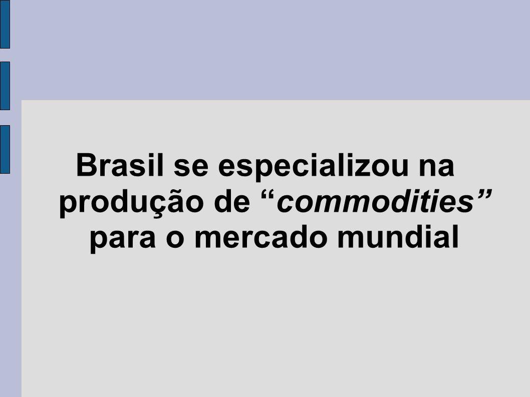 Brasil se especializou na produção de commodities para o mercado mundial