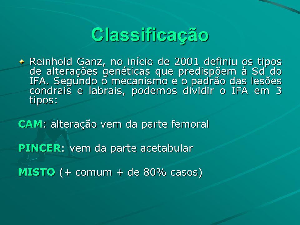 Classificação Reinhold Ganz, no início de 2001 definiu os tipos de alterações genéticas que predispõem à Sd do IFA. Segundo o mecanismo e o padrão das