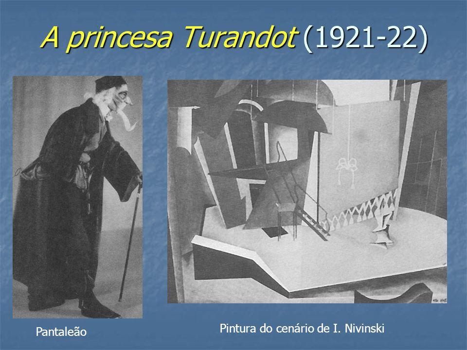 A princesa Turandot (1921-22) Pintura do cenário de I. Nivinski Pantaleão
