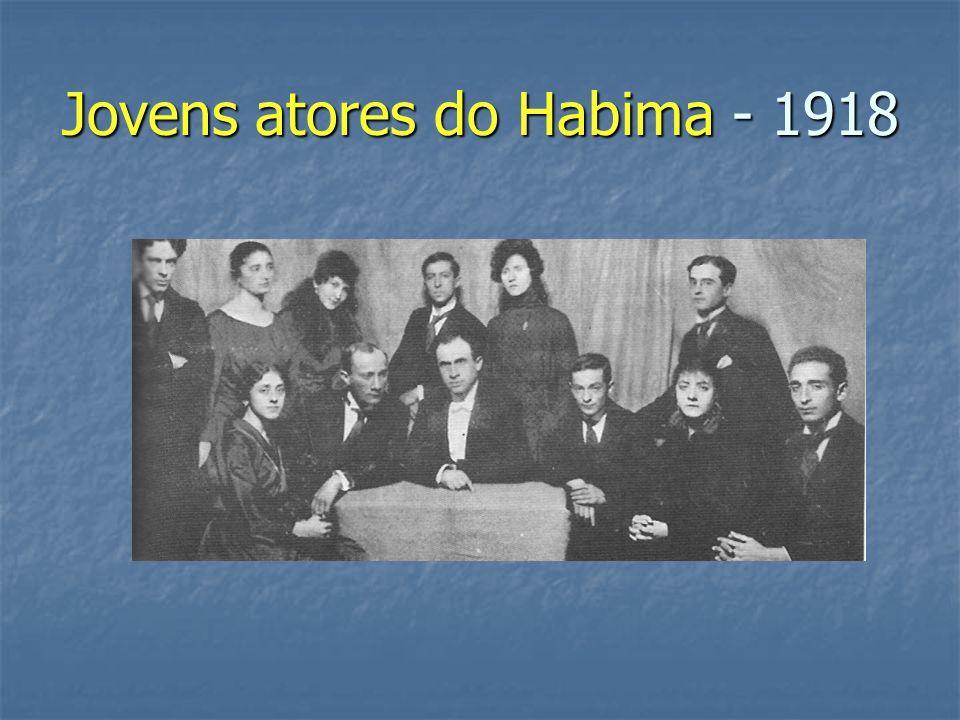 Jovens atores do Habima - 1918
