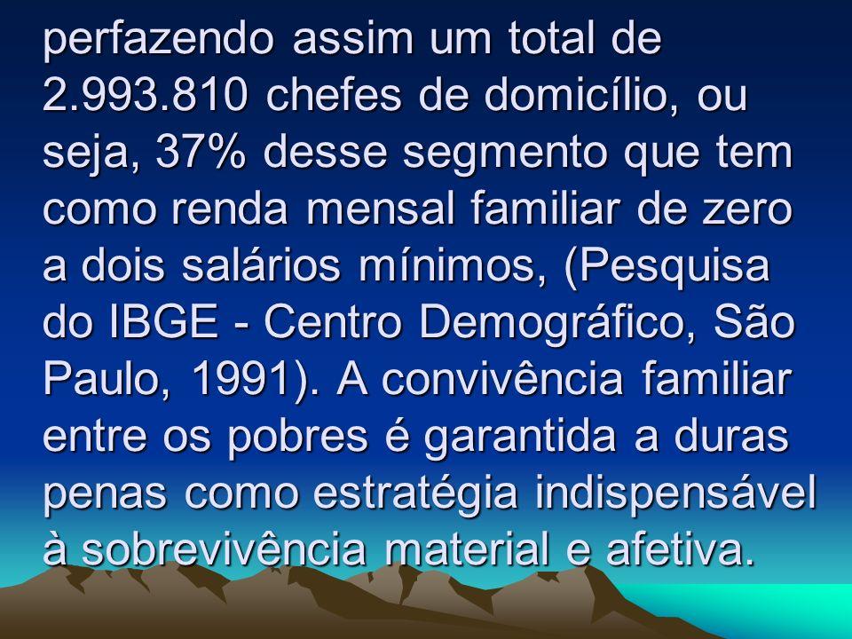 perfazendo assim um total de 2.993.810 chefes de domicílio, ou seja, 37% desse segmento que tem como renda mensal familiar de zero a dois salários mín