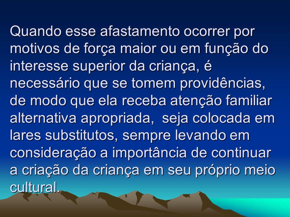 Segundo Maria do Carmo Brandt de Carvalho (1995, p.17), os serviços destinados a família abrangem atendimento emergencial e atendimento sistemático.