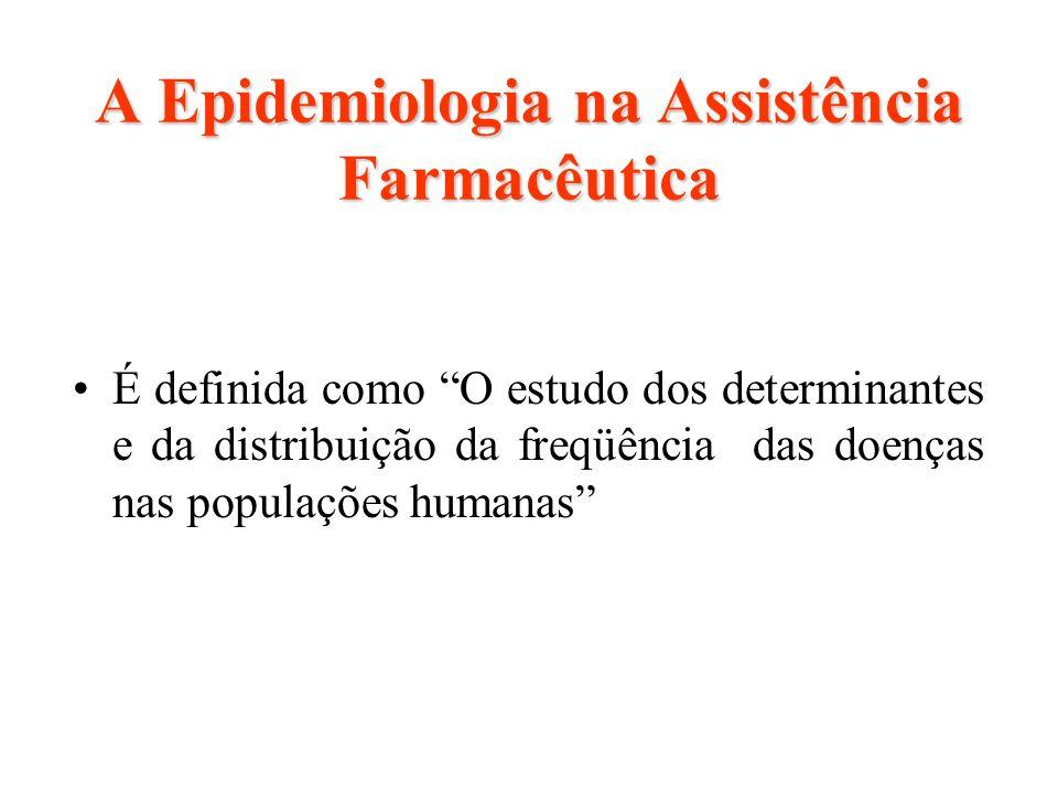 A Epidemiologia na Assistência Farmacêutica É definida como O estudo dos determinantes e da distribuição da freqüência das doenças nas populações huma