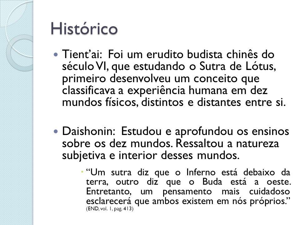Histórico Tientai: Foi um erudito budista chinês do século VI, que estudando o Sutra de Lótus, primeiro desenvolveu um conceito que classificava a exp