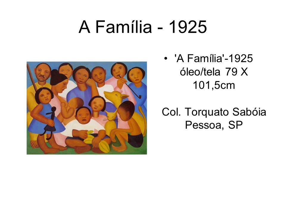 A Família - 1925 'A Família'-1925 óleo/tela 79 X 101,5cm Col. Torquato Sabóia Pessoa, SP