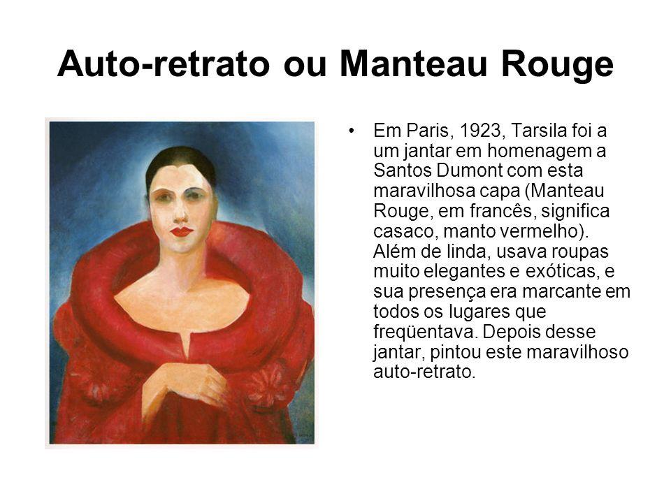 Auto-retrato ou Manteau Rouge Em Paris, 1923, Tarsila foi a um jantar em homenagem a Santos Dumont com esta maravilhosa capa (Manteau Rouge, em francê