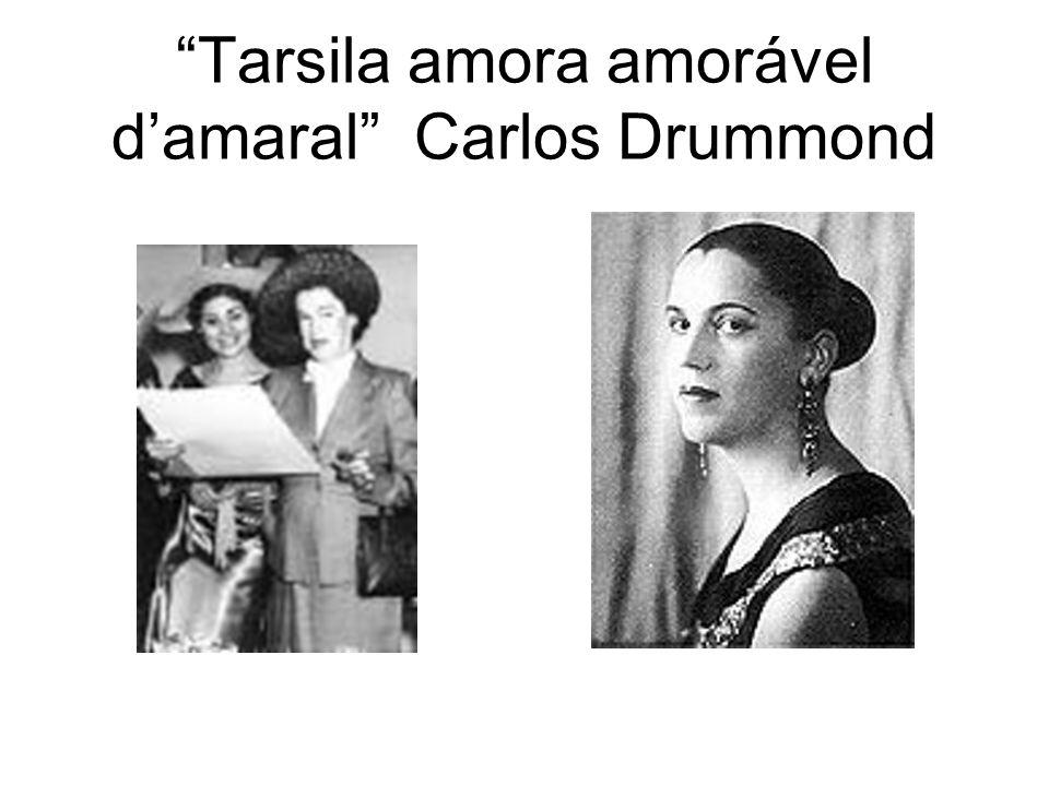 Tarsila amora amorável damaral Carlos Drummond