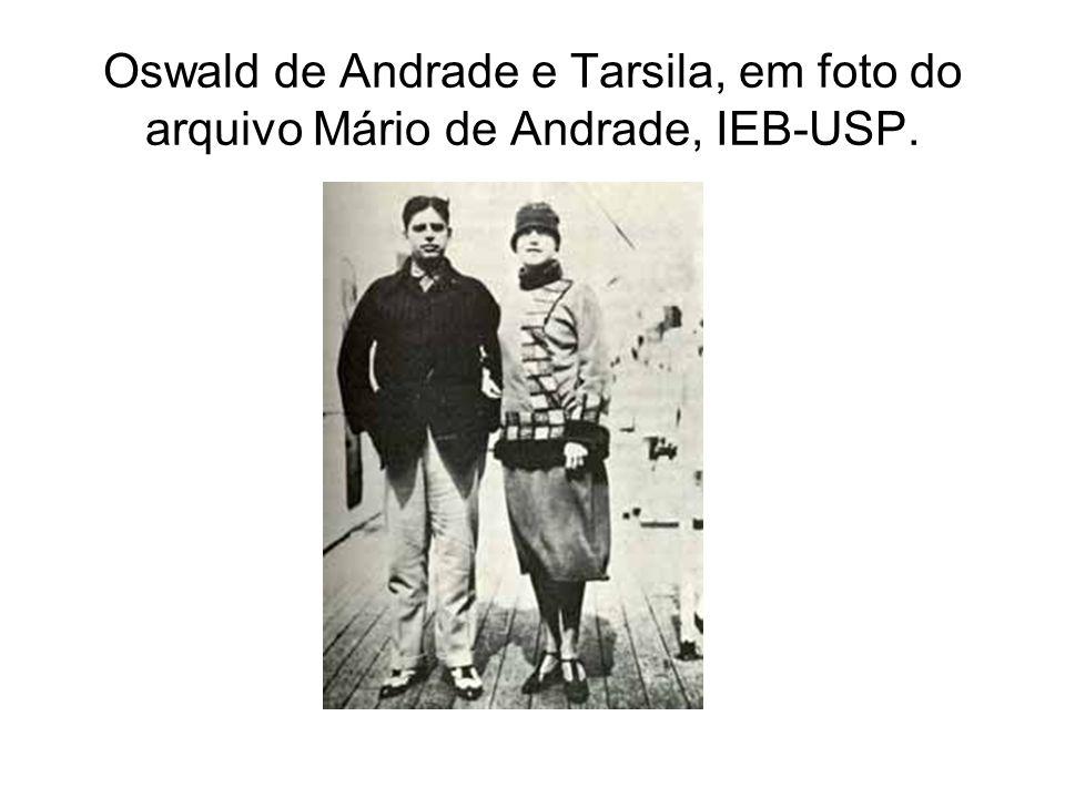 Oswald de Andrade e Tarsila, em foto do arquivo Mário de Andrade, IEB-USP.