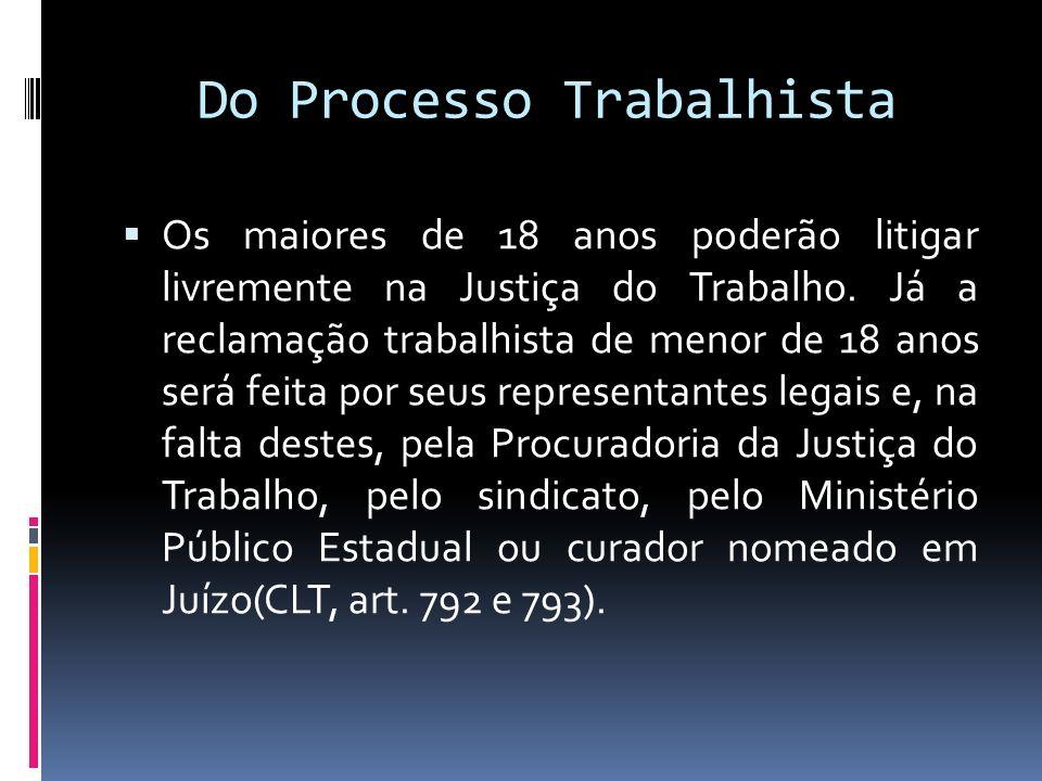 Do Processo Trabalhista Da comissão de Conciliação Prévia(CCP) O artigo 625-A da CLT, expressa: Art.
