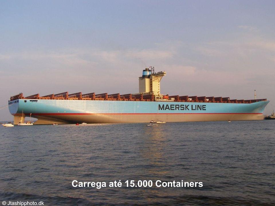 Carrega até 15.000 Containers