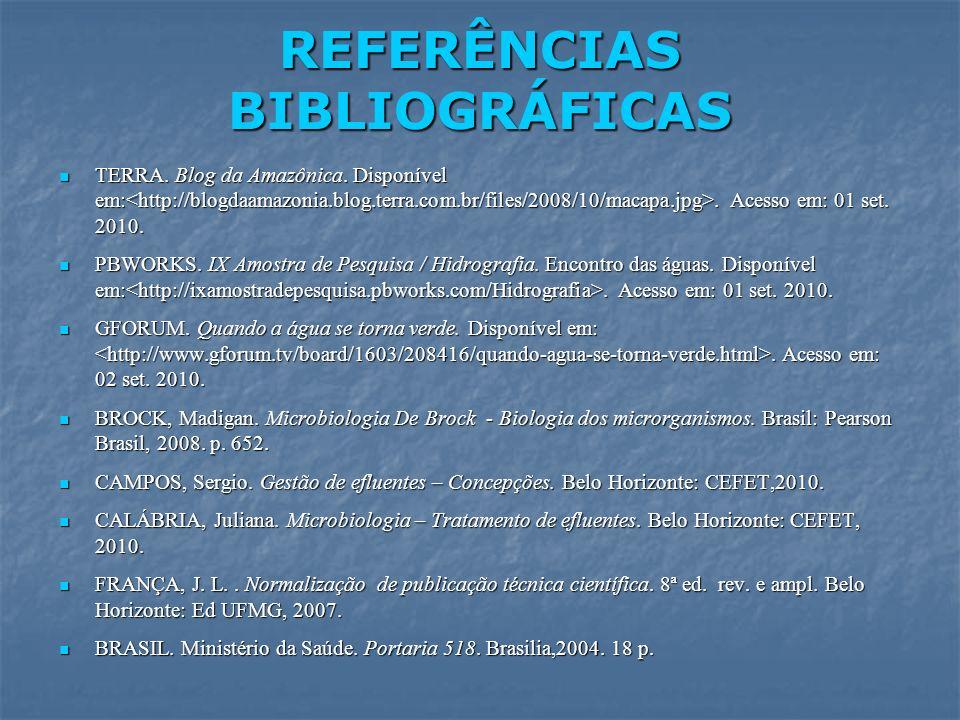 TERRA. Blog da Amazônica. Disponível em:. Acesso em: 01 set. 2010. TERRA. Blog da Amazônica. Disponível em:. Acesso em: 01 set. 2010. PBWORKS. IX Amos