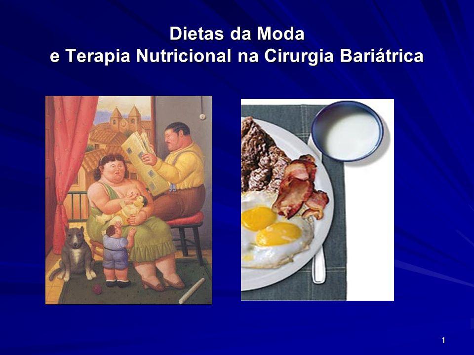 1 Dietas da Moda e Terapia Nutricional na Cirurgia Bariátrica