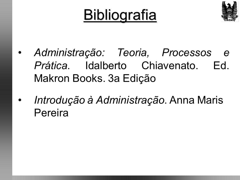 Bibliografia Administração: Teoria, Processos e Prática.