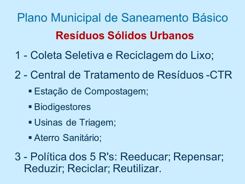 Plano Municipal de Saneamento Básico Esgotamento Sanitário 1 - Coleta de esgoto