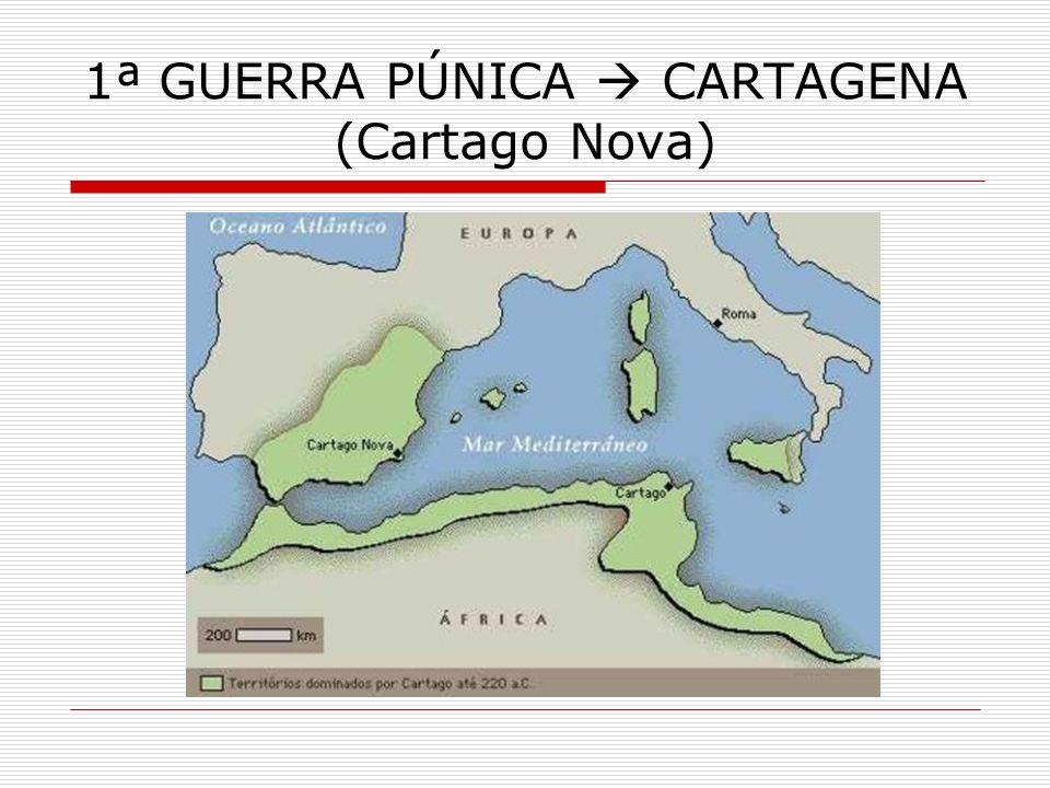 2ª GUERRA PÚNICA 218 a.C.= início do processo de romanização da HISPÂNIA 197 a.C.