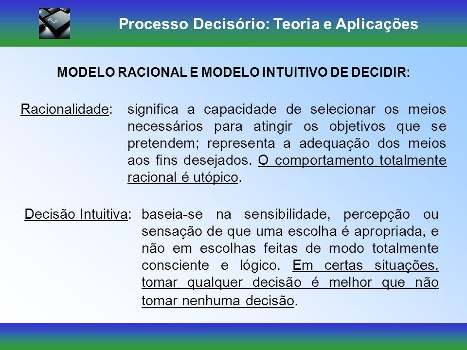 Processo Decisório: Teoria e Aplicações Técnicas Tradicionais 1.Hábito e costume; 2.Objetivos e subobjetivos impostos às pessoas; 3.Rotinas burocrátic