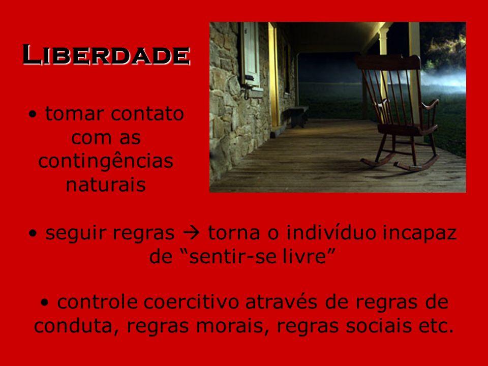 Liberdade tomar contato com as contingências naturais seguir regras torna o indivíduo incapaz de sentir-se livre controle coercitivo através de regras