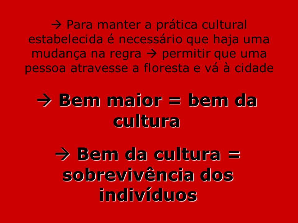 Para manter a prática cultural estabelecida é necessário que haja uma mudança na regra permitir que uma pessoa atravesse a floresta e vá à cidade Bem