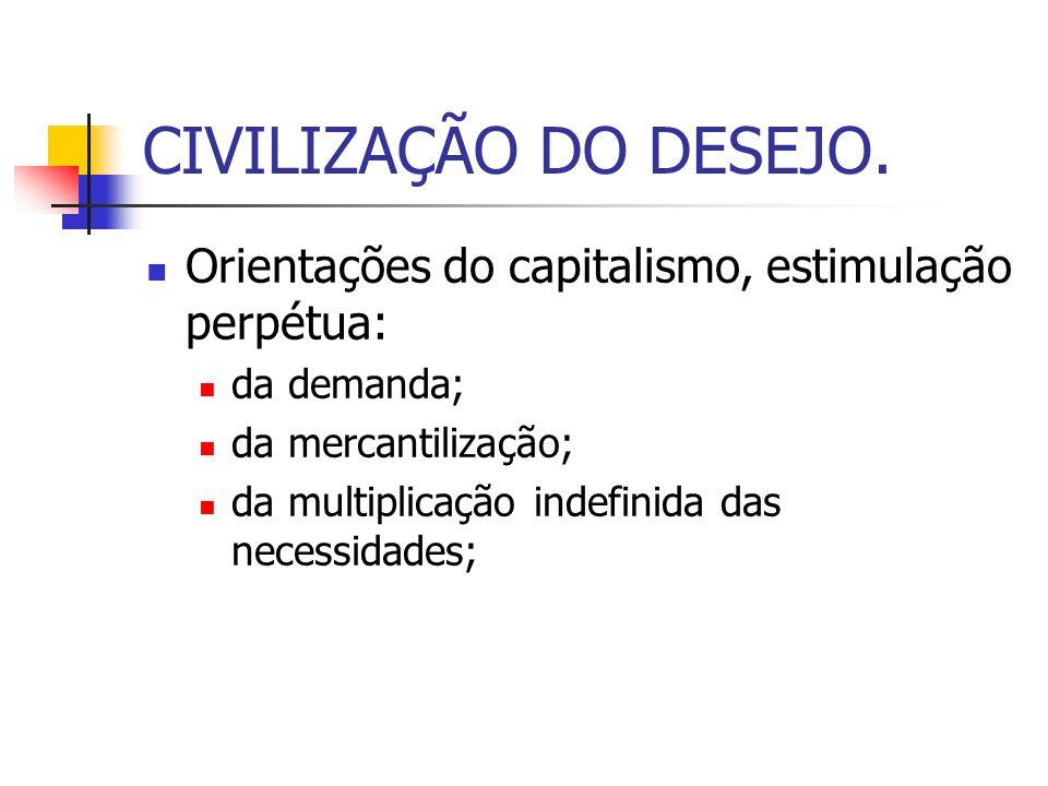 CIVILIZAÇÃO DO DESEJO.