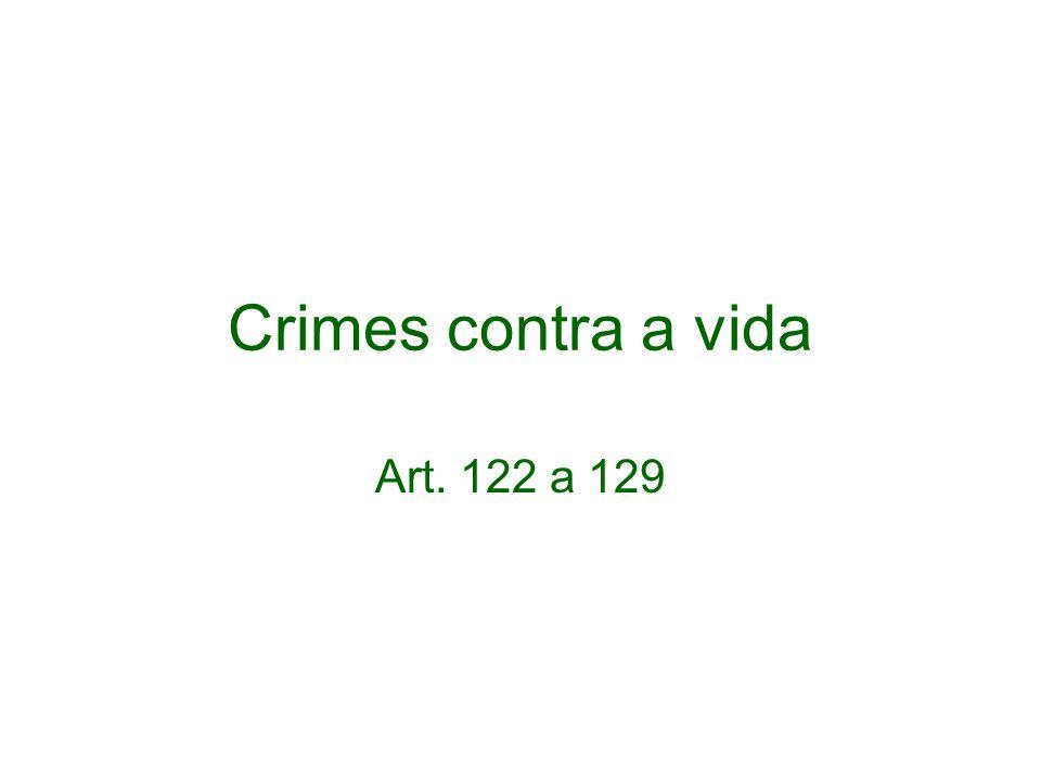 Crimes contra a vida Art. 122 a 129