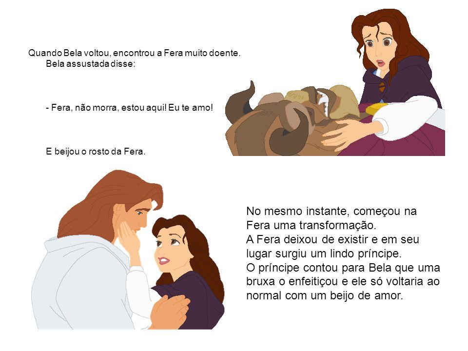 Quebrado o encanto, o príncipe e a Bela se casaram e foram felizes para sempre.